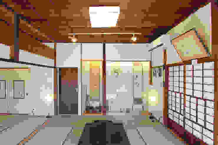 築100年の古民家耐震リノベーション 和風デザインの 多目的室 の 菅原浩太建築設計事務所 和風 木 木目調