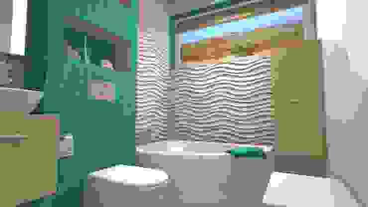Mały Apartament w Afryce - łazienka od Wizja Wnętrza - projekty i aranżacje