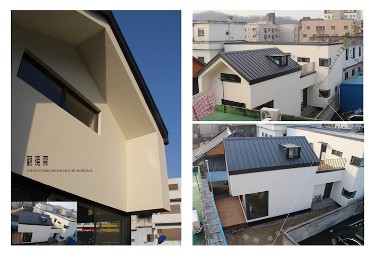 관효재(전주주택) 모던스타일 주택 by hueau 모던 철근 콘크리트