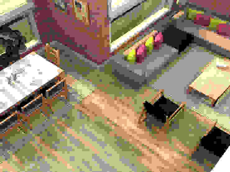 Salones de estilo ecléctico de Update İç Mimarlık Ecléctico