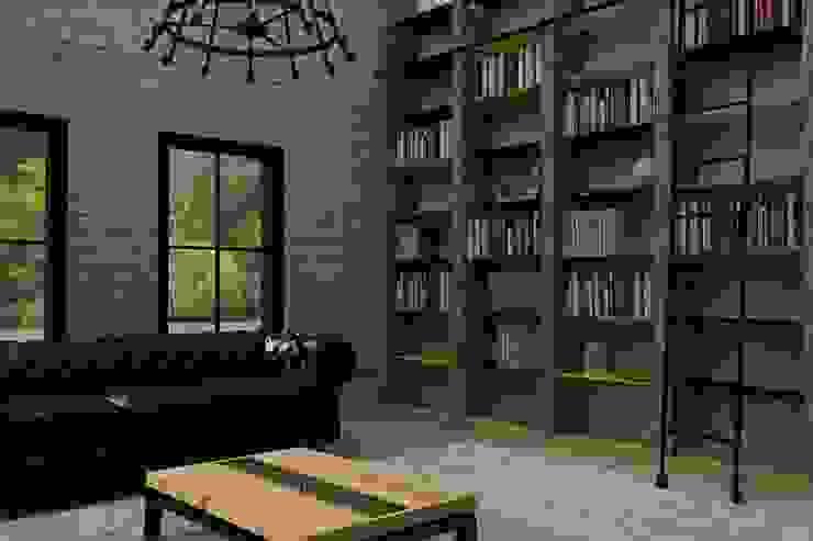 Emre & Cansu Evi Endüstriyel Oturma Odası Update İç Mimarlık Endüstriyel Ahşap Ahşap rengi