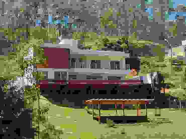 Casa Serra dos Cristais – Cajamar / SP Casas modernas por Carolina Bernardi Arquitetura Moderno
