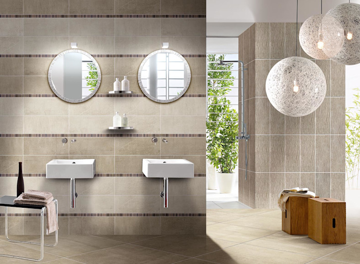 CERAMICHE BRENNERO SPA Modern style bathrooms Ceramic