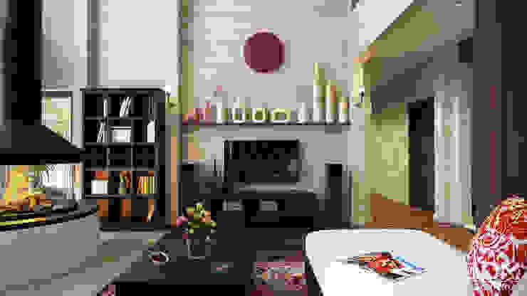 студия визуализации и дизайна интерьера '3dm2'의  거실, 인더스트리얼