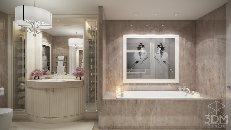 студия визуализации и дизайна интерьера '3dm2' Classic style bathroom