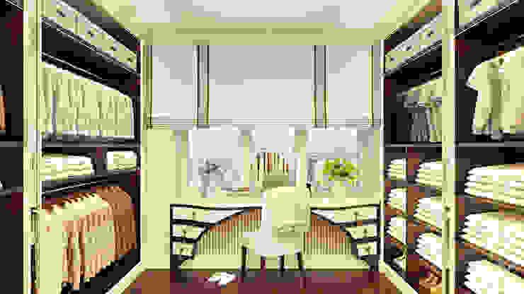 Проект 014: интерьер частного дома Гардеробная в классическом стиле от студия визуализации и дизайна интерьера '3dm2' Классический