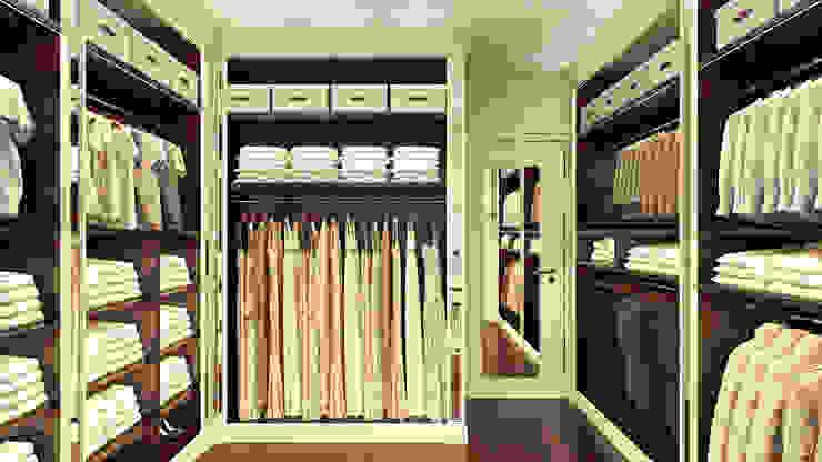 студия визуализации и дизайна интерьера '3dm2' Classic style dressing room
