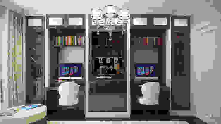 студия визуализации и дизайна интерьера '3dm2' Study/office