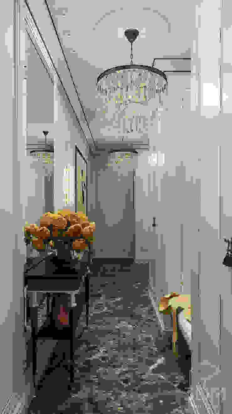 студия визуализации и дизайна интерьера '3dm2' Classic style corridor, hallway and stairs