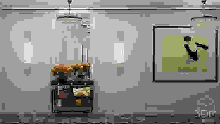 Pasillos, vestíbulos y escaleras de estilo clásico de студия визуализации и дизайна интерьера '3dm2' Clásico