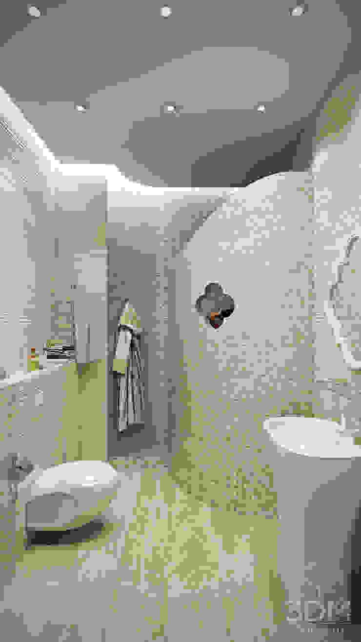 Проект 033: квартира-студия Ванная комната в стиле минимализм от студия визуализации и дизайна интерьера '3dm2' Минимализм