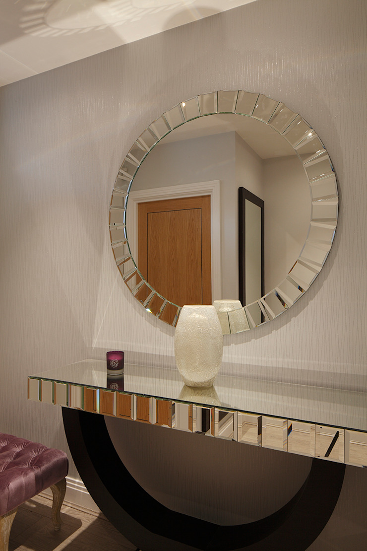 New Build Contemporary Interior Design Ealing Classic style corridor, hallway and stairs by Quirke McNamara Classic