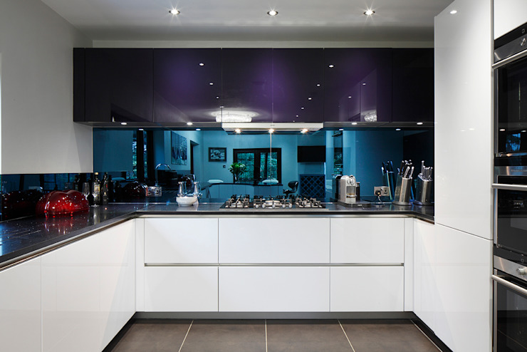 Kitchen Interior Design Quirke McNamara Minimalist kitchen Purple/Violet