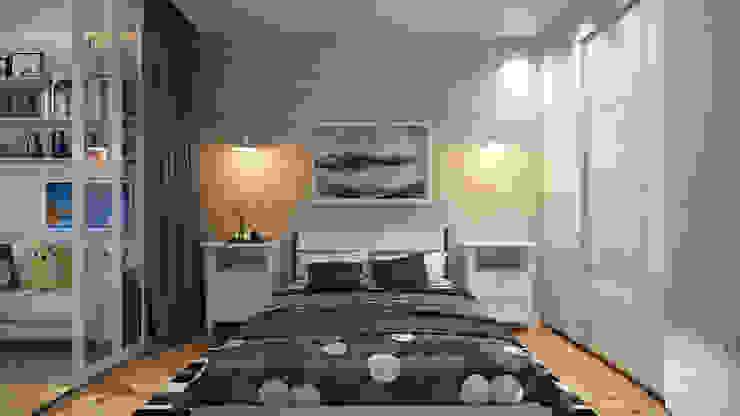 Dormitorios de estilo  de студия визуализации и дизайна интерьера '3dm2',