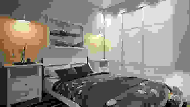 Scandinavian style bedroom by студия визуализации и дизайна интерьера '3dm2' Scandinavian