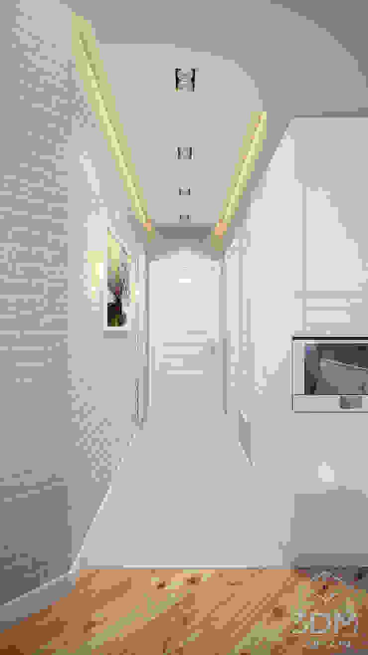 Scandinavian style corridor, hallway& stairs by студия визуализации и дизайна интерьера '3dm2' Scandinavian