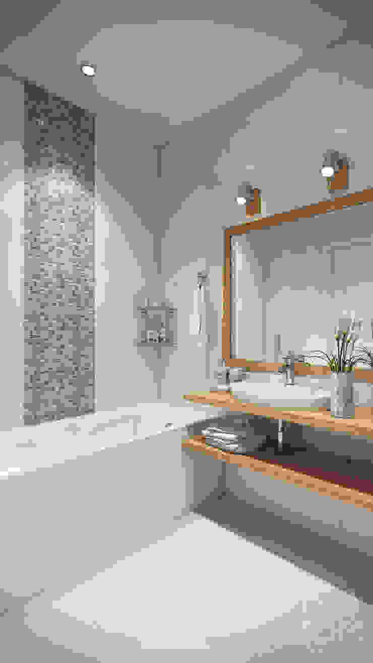 Scandinavian style bathroom by студия визуализации и дизайна интерьера '3dm2' Scandinavian