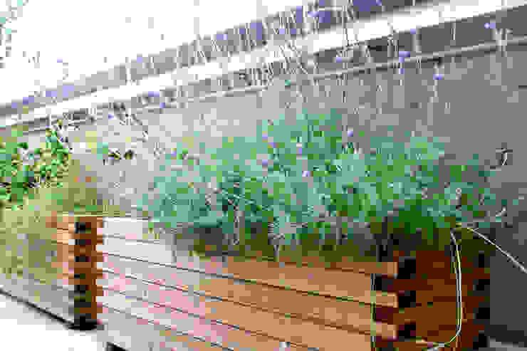 Varandas, marquises e terraços ecléticos por Atelier delle Verdure Eclético Madeira Acabamento em madeira