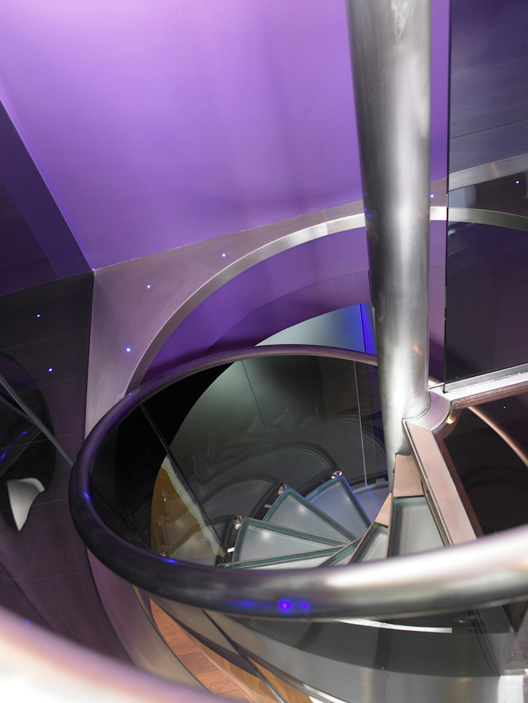 Luxury Penthouse London Modern corridor, hallway & stairs by Quirke McNamara Modern