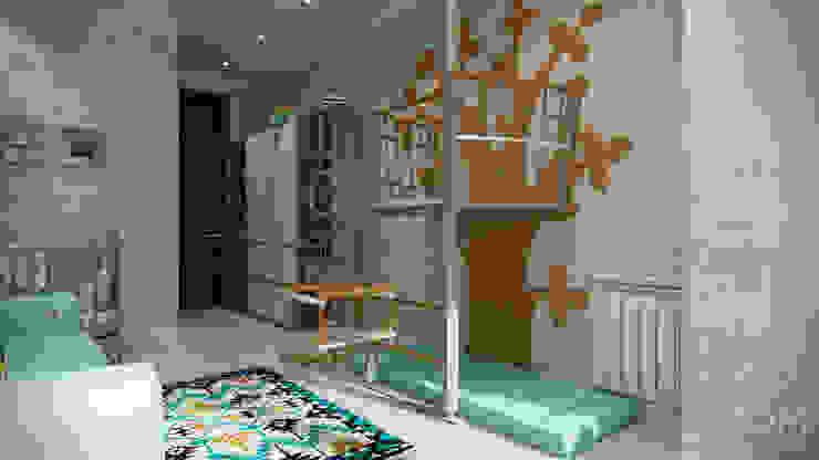 Проект 038: детская + гардеробная Детская комнатa в стиле минимализм от студия визуализации и дизайна интерьера '3dm2' Минимализм