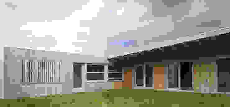 Vivienda modular en Culleredo (A Coruña) | en proceso Casas de estilo moderno de Ezcurra e Ouzande arquitectura Moderno Madera Acabado en madera