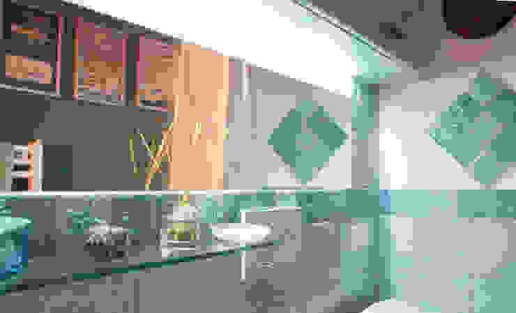 AD2P Baños de estilo mediterráneo Azul