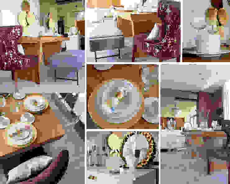 Nomada Design Studio Eclectic style dining room Purple/Violet