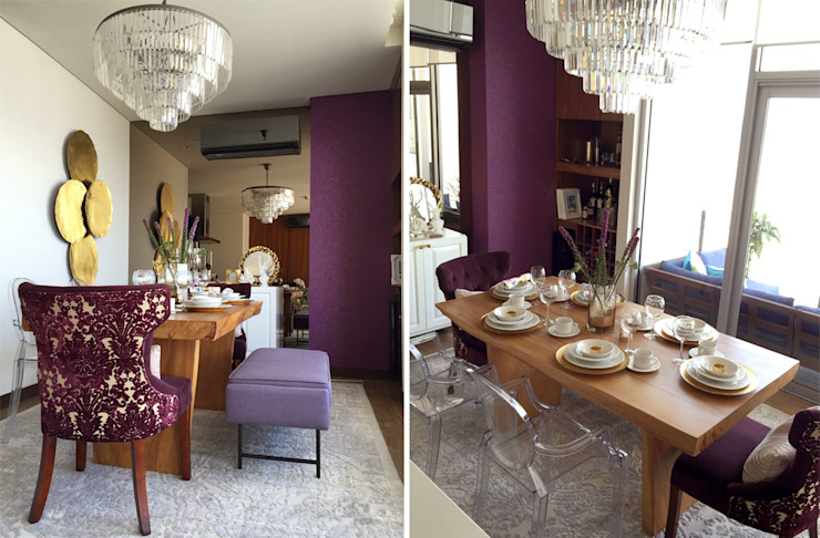 Nomada Design Studio Eclectic style dining room Purple/Violet