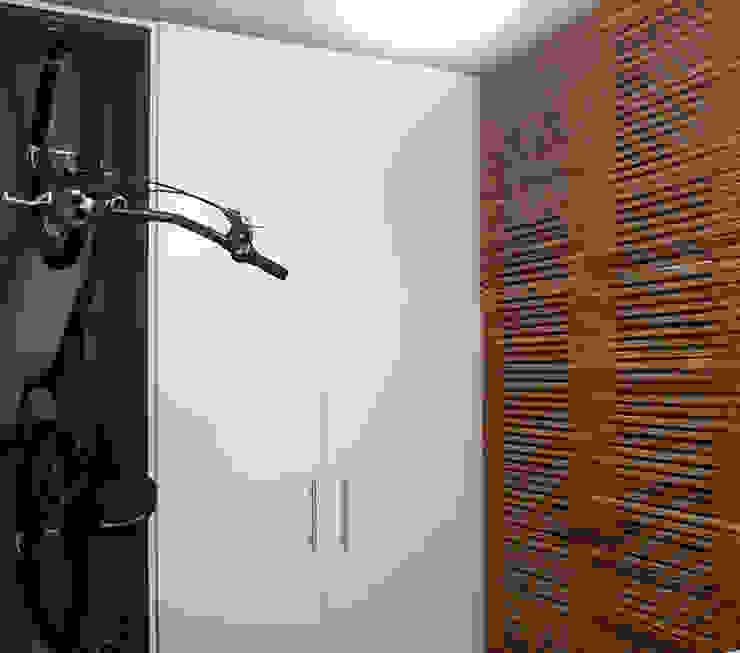 Modern Garage and Shed by LUB Arquitetura - Luiza Bassani Modern Wood Wood effect