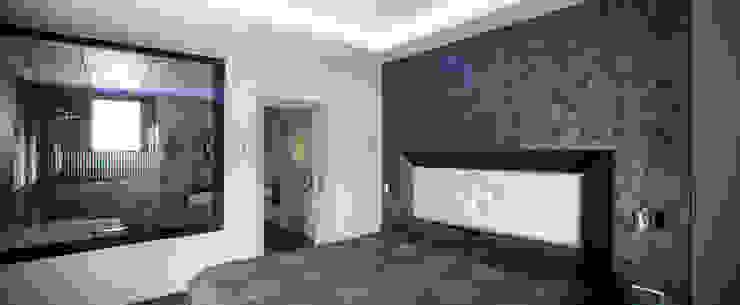 Mascagni arquitectos Camera da letto moderna