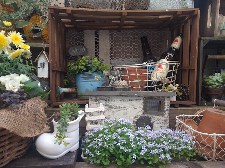 100均アイテムの家庭菜園・ガーデニング写真: kokkomachaが手掛けた素朴なです。,ラスティック