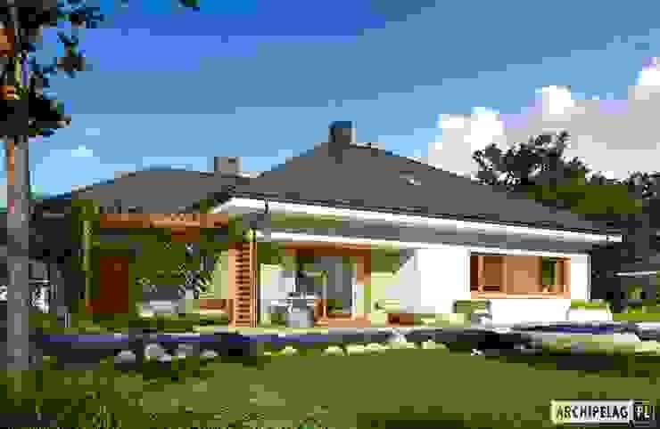 Projekt domu Flo III G1 Nowoczesne domy od Pracownia Projektowa ARCHIPELAG Nowoczesny