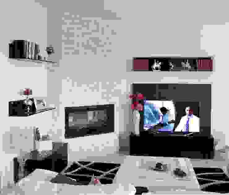 OGARREDO 现代客厅設計點子、靈感 & 圖片 Black