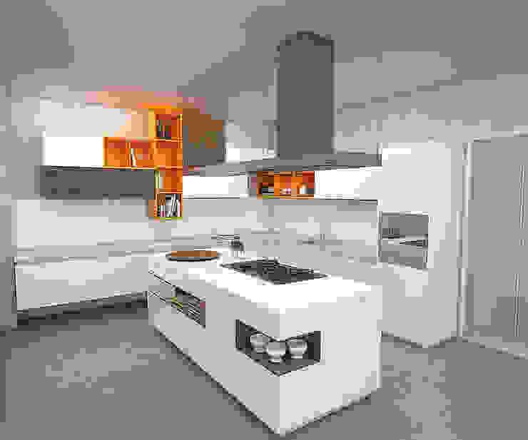 Cocinas de estilo moderno de Politan Arquitectura+Diseño S.A.S. Moderno