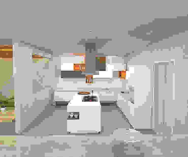 Casa Palermo Cocinas modernas de Politan Arquitectura+Diseño S.A.S. Moderno