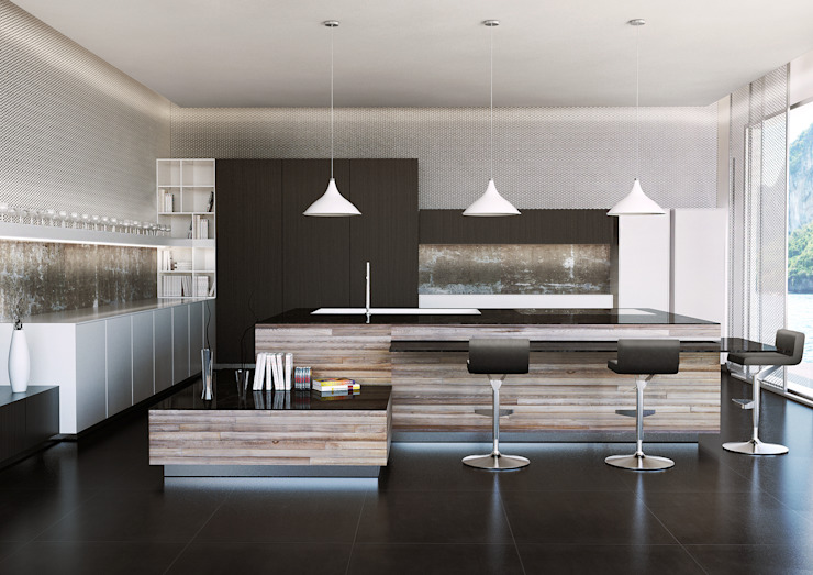 Render Modern dining room by asf Modern