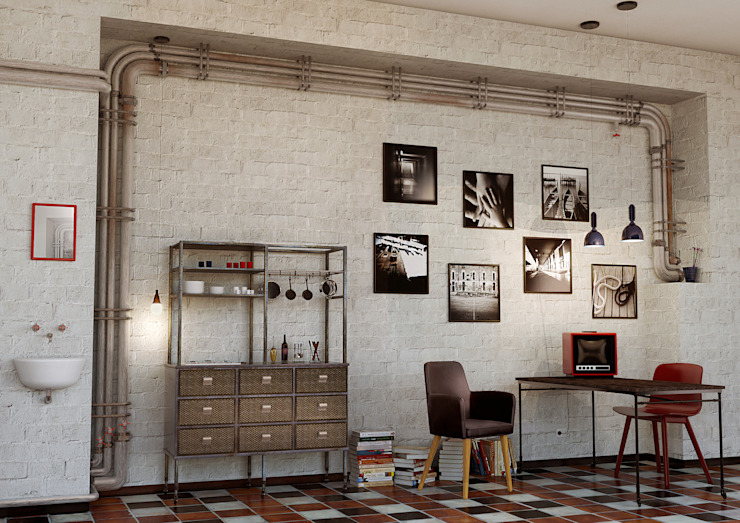 Render Moderne Wohnzimmer von asf Modern