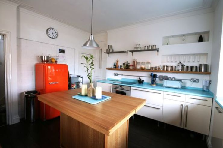 Bespoke 1950's inspired kitchen by Redesign Eclectic