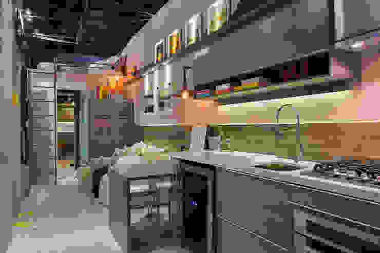 Projekty,  Kuchnia zaprojektowane przez Paula Werneck Arquitetura