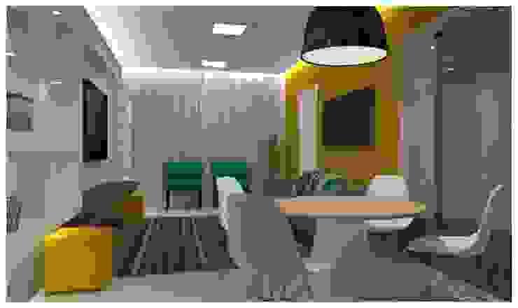 Residência Mooca Salas de jantar modernas por Politi Matteo Arquitetura Moderno