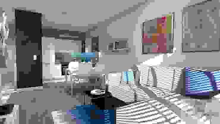 Mieszkanie pod wynajem, Warszawa Skandynawski salon od Designbox Marta Bednarska-Małek Skandynawski