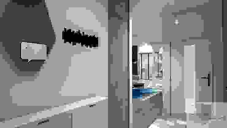 Mieszkanie pod wynajem, Warszawa Skandynawski korytarz, przedpokój i schody od Designbox Marta Bednarska-Małek Skandynawski