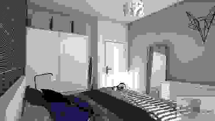 Mieszkanie pod wynajem, Warszawa Skandynawska sypialnia od Designbox Marta Bednarska-Małek Skandynawski