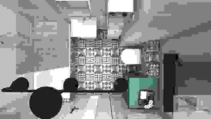 Mieszkanie pod wynajem, Warszawa Skandynawska kuchnia od Designbox Marta Bednarska-Małek Skandynawski