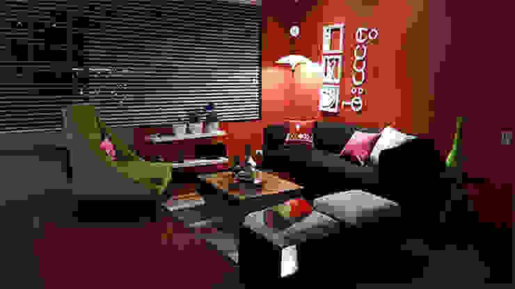 Sala Ciudad Salitre Bogotá Salas modernas de Omar Interior Designer Empresa de Diseño Interior, remodelacion, Cocinas integrales, Decoración Moderno Madera Acabado en madera