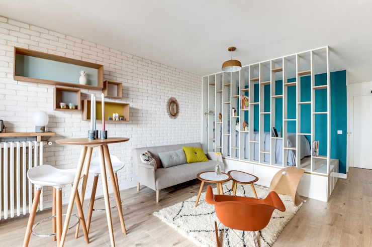 PROJET VOLTAIRE, Agence Transition Interior Design, Architectes: Carla Lopez et Margaux Meza: Salon de style  par Transition Interior Design , Moderne