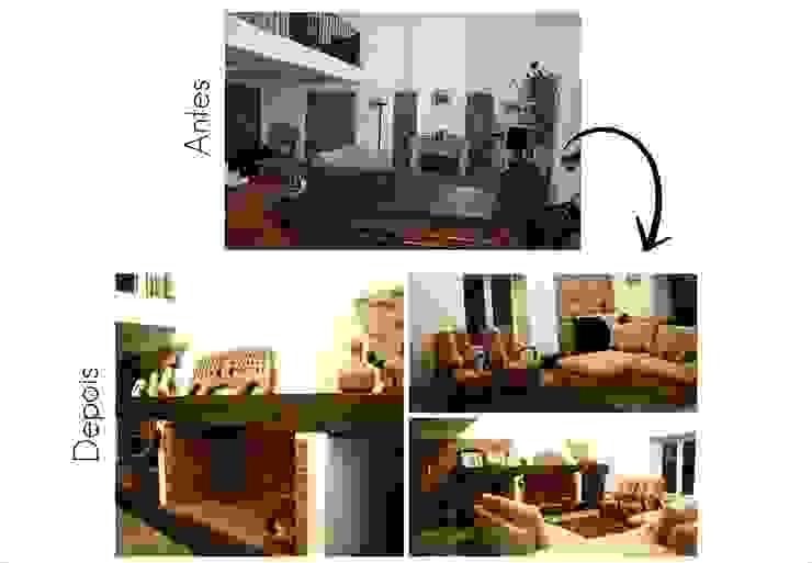 Sala de Estar e Lareira por Jorge Feio, Arquitecto