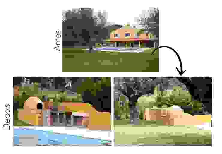 Espaço para churrasqueira e forno de Pão por Jorge Feio, Arquitecto