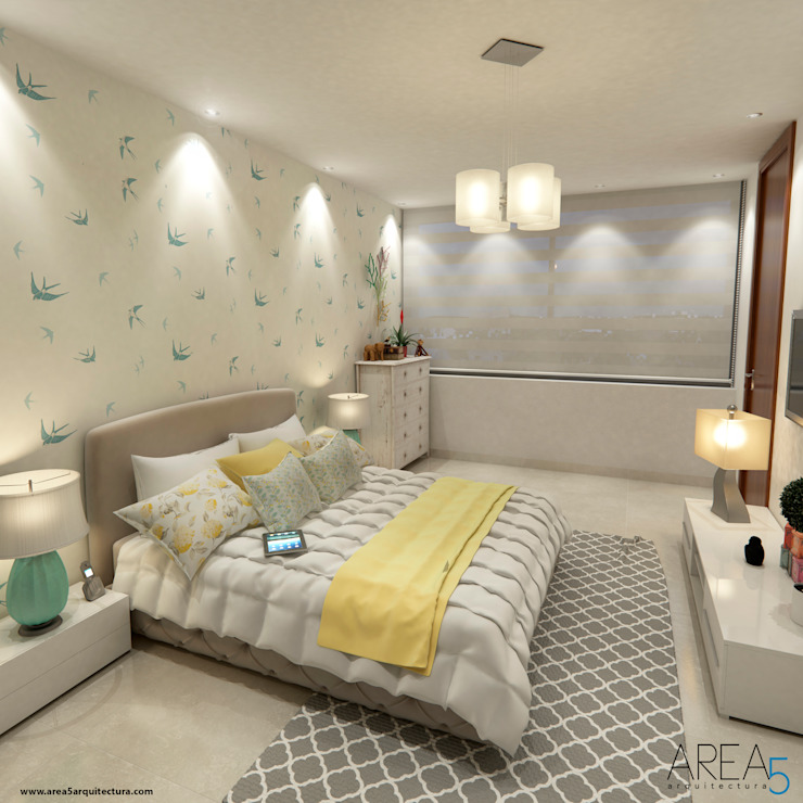 Area5 arquitectura SAS Modern Bedroom Yellow