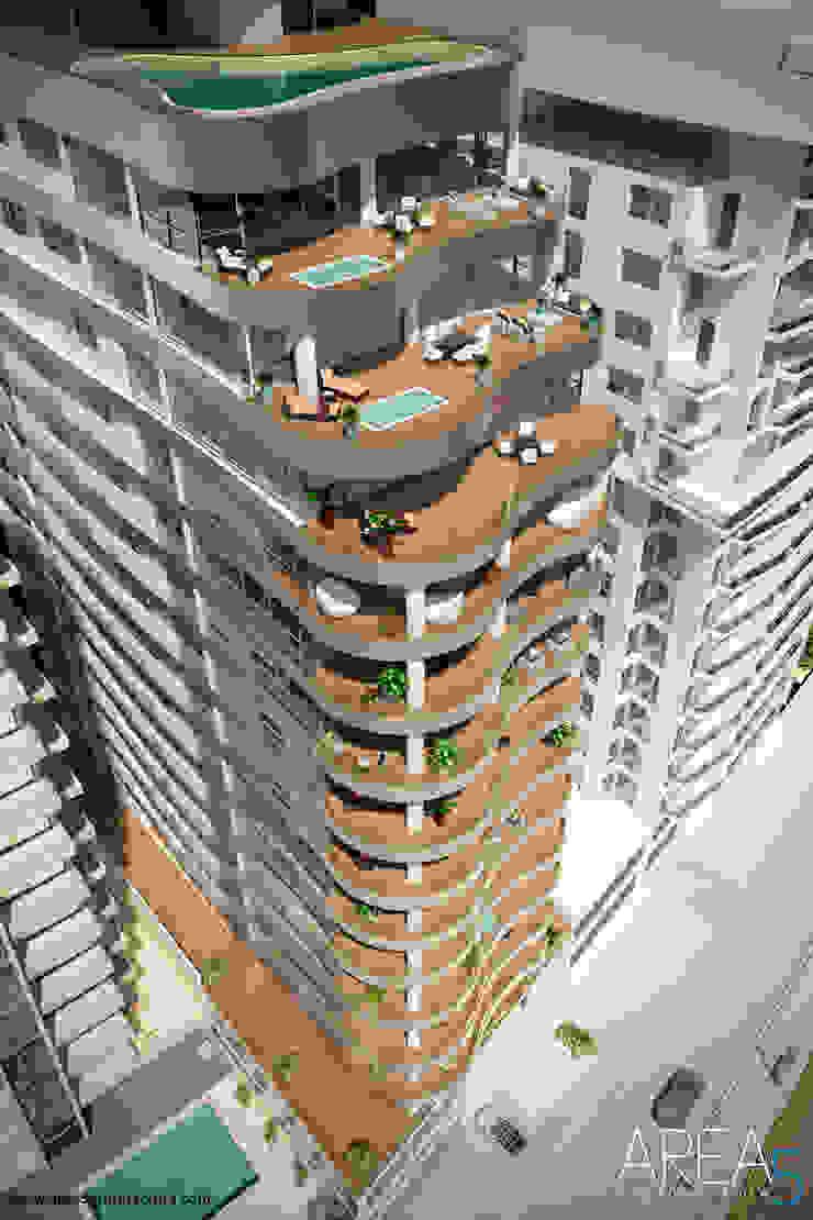 Modern balcony, veranda & terrace by Area5 arquitectura SAS Modern Ceramic